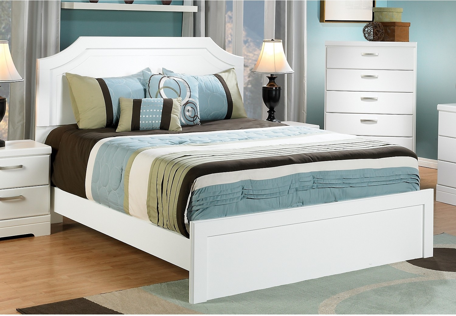 Bianco Queen Bed
