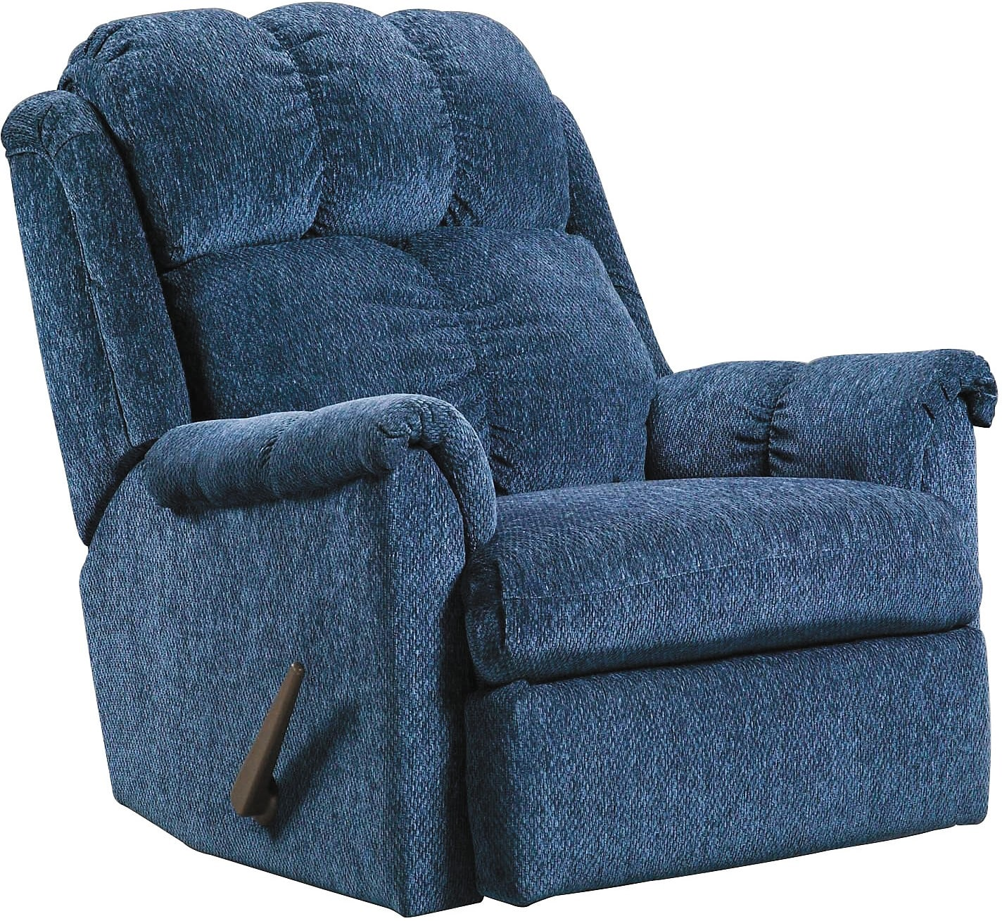Living Room Furniture - Navy Chenille Rocker Recliner