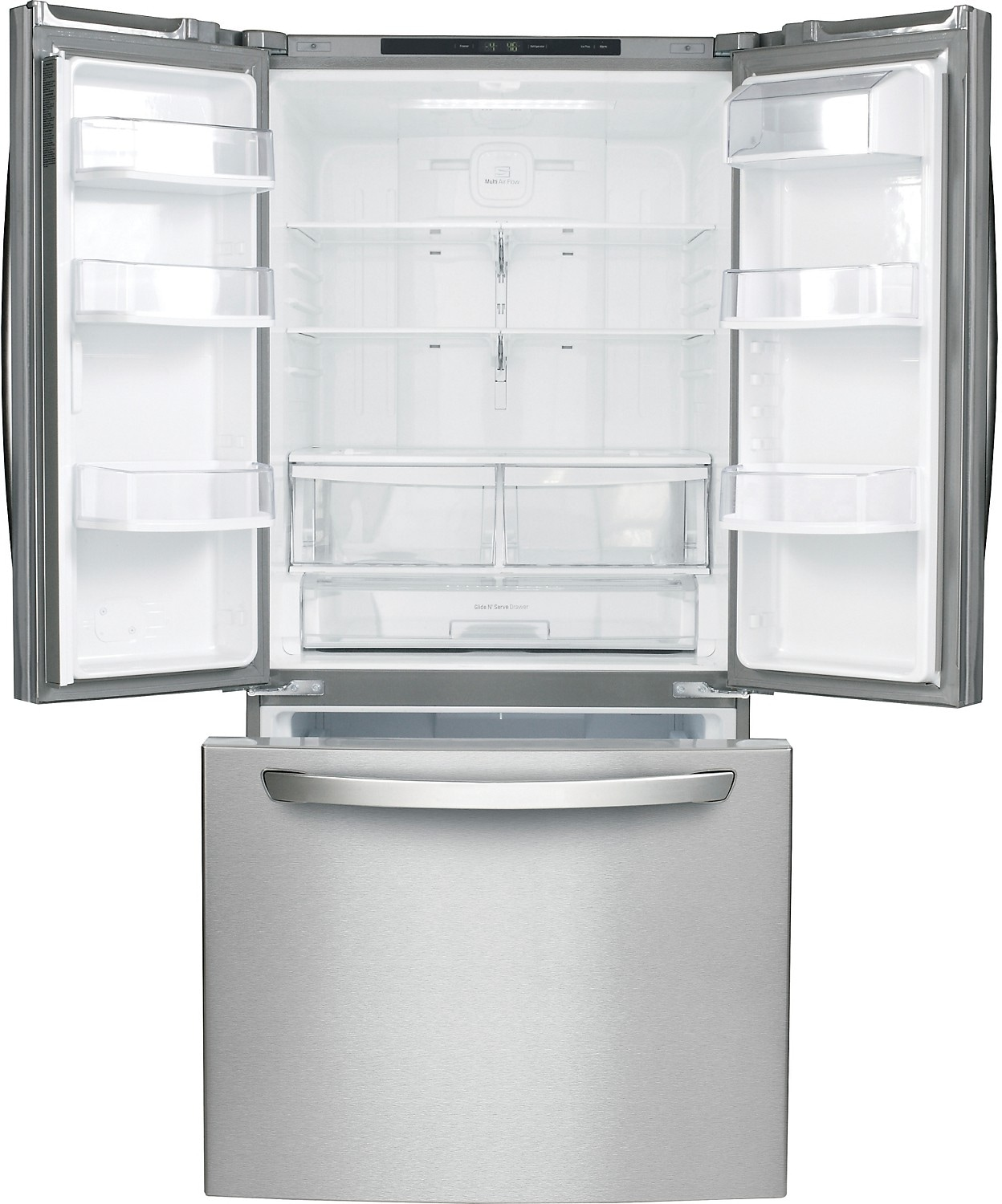 Lg 24 Cu Ft French Door Refrigerator With Smart Cooling