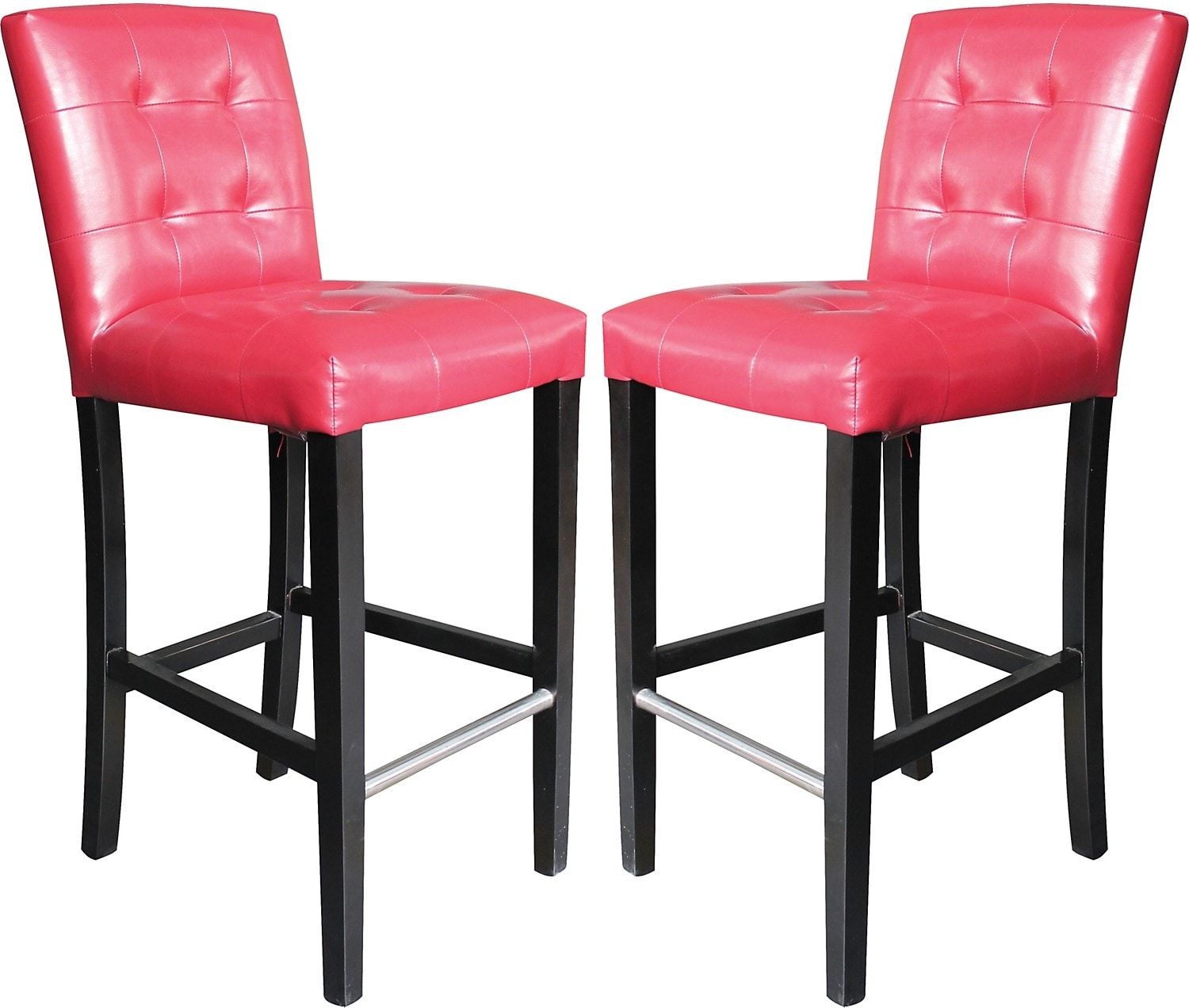 Dining Room Furniture - Cosmo Bar Stool Set of 2 - Red