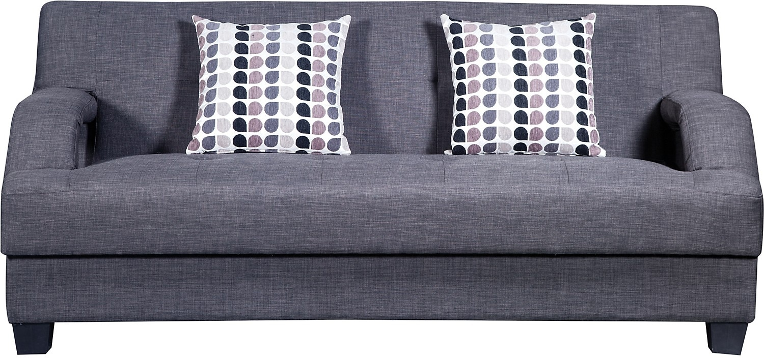 Living Room Furniture - Vogue Futon - Charcoal
