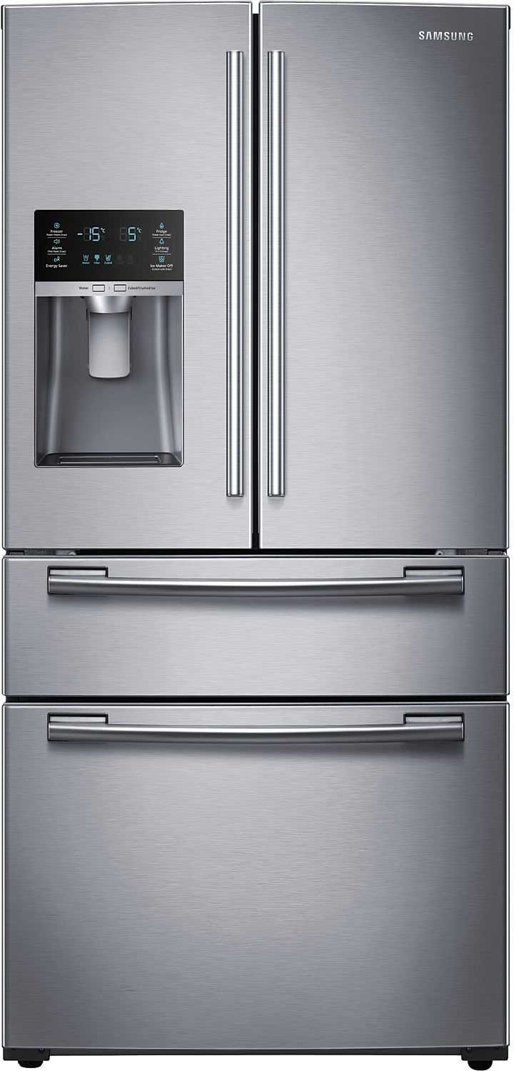 Refrigerators and Freezers - Samsung 25 Cu. Ft. French Door Bottom-Mount Refrigerator – Stainless Steel