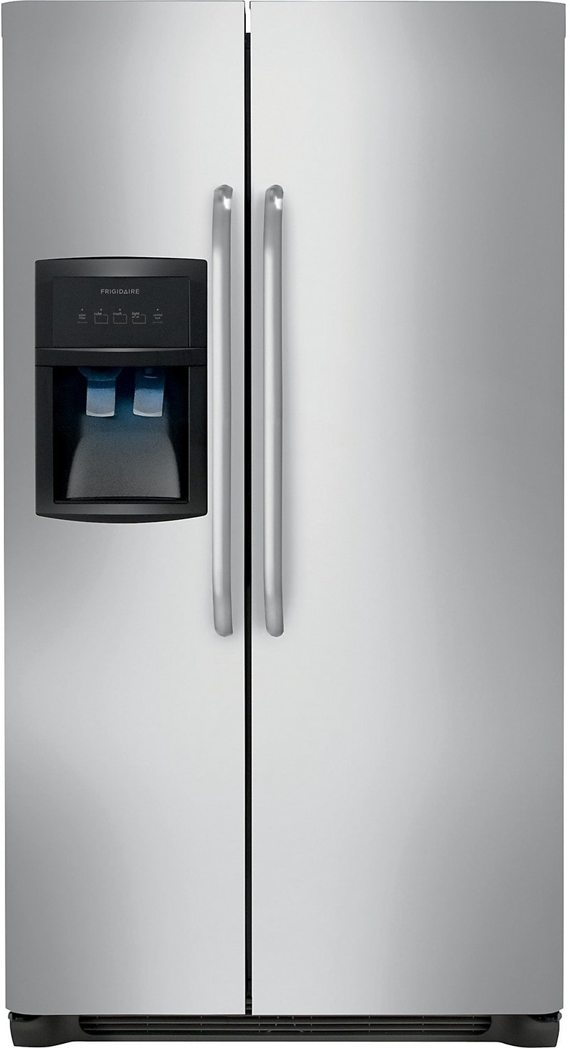 Refrigerators and Freezers - Frigidaire 23 Cu. Ft. Standard-Depth Side-by-Side Refrigerator - Stainless Steel