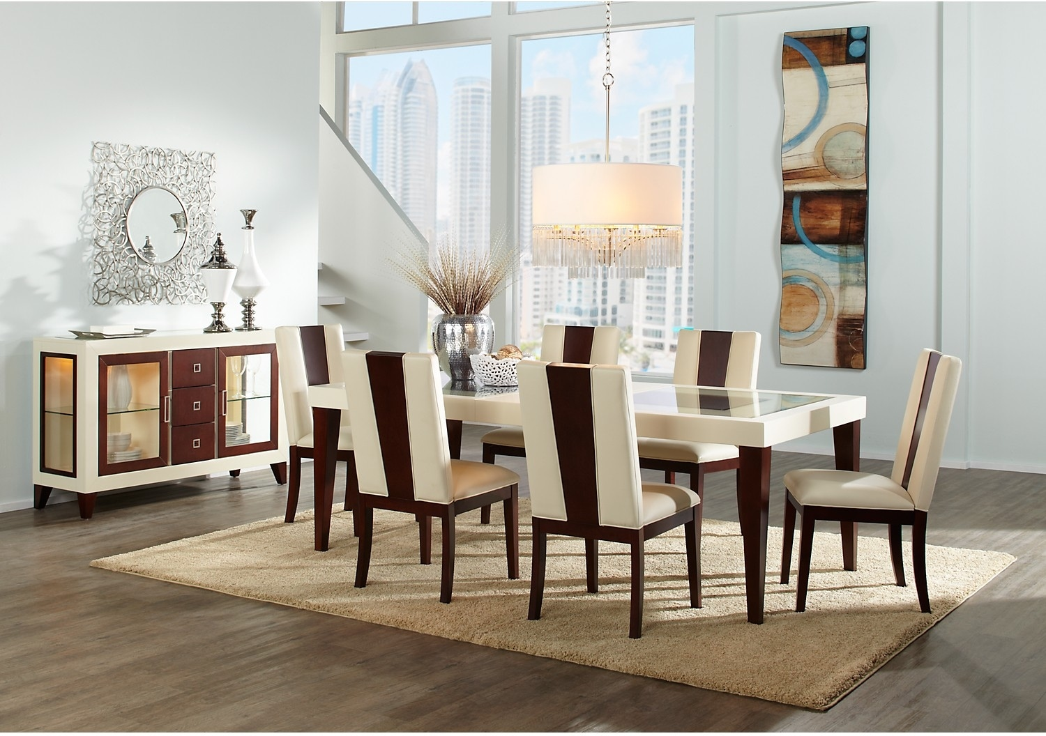 The Brick Dining Room Furniture Zeno 8 Piece Dining Package The Brick