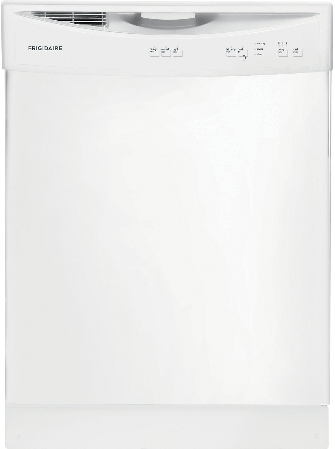 "Frigidaire 24"" Built-In Large-Capacity Dishwasher – White"