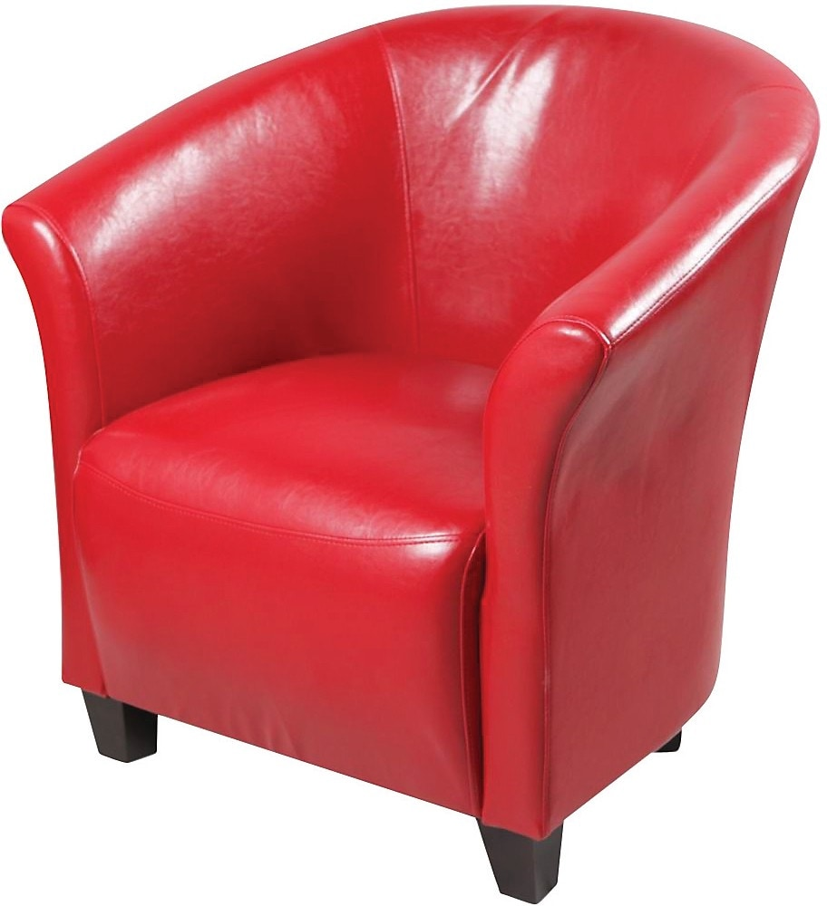 Red accent chair the brick for Furniture chairs