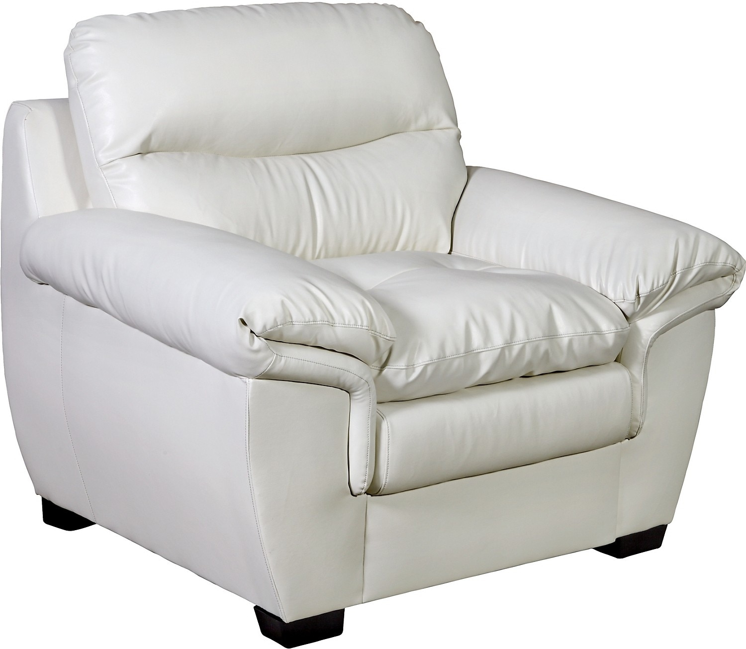 Living Room Furniture - E6 Cream Bonded Leather Chair