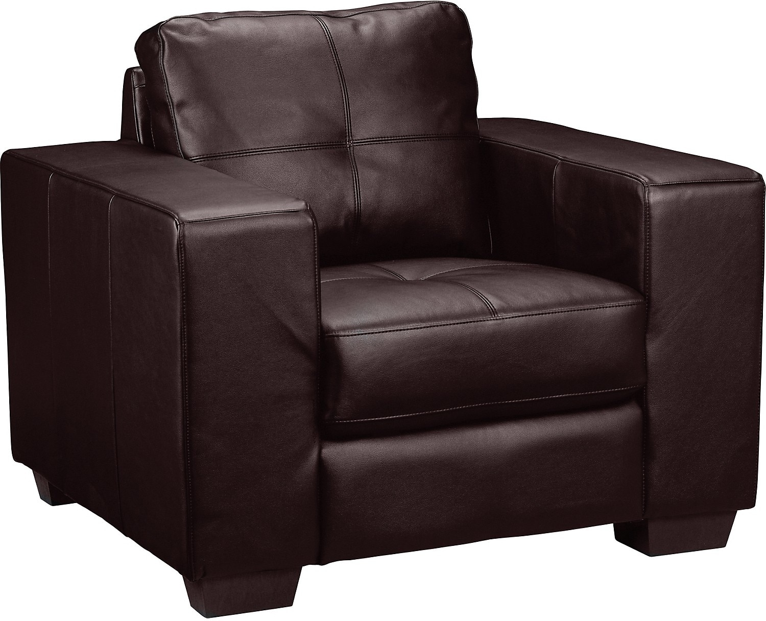 Living Room Furniture - Costa Brown Bonded Leather Chair