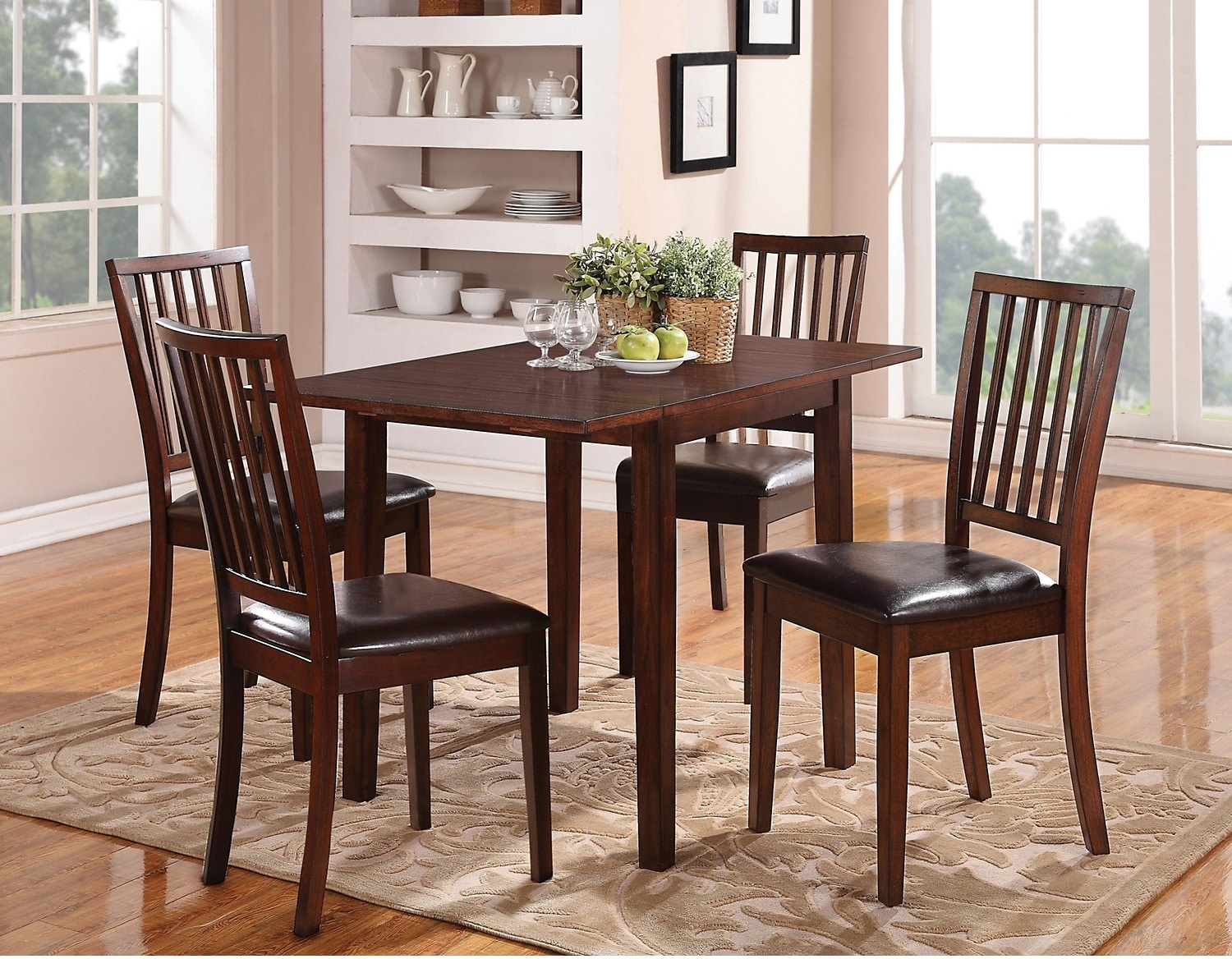 Dining Room Furniture - Adara 5-Piece Square Table Dining Package