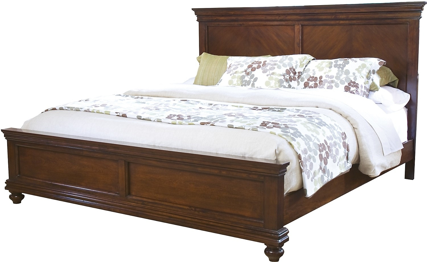Bridgeport queen bed the brick for L furniture warehouse queen