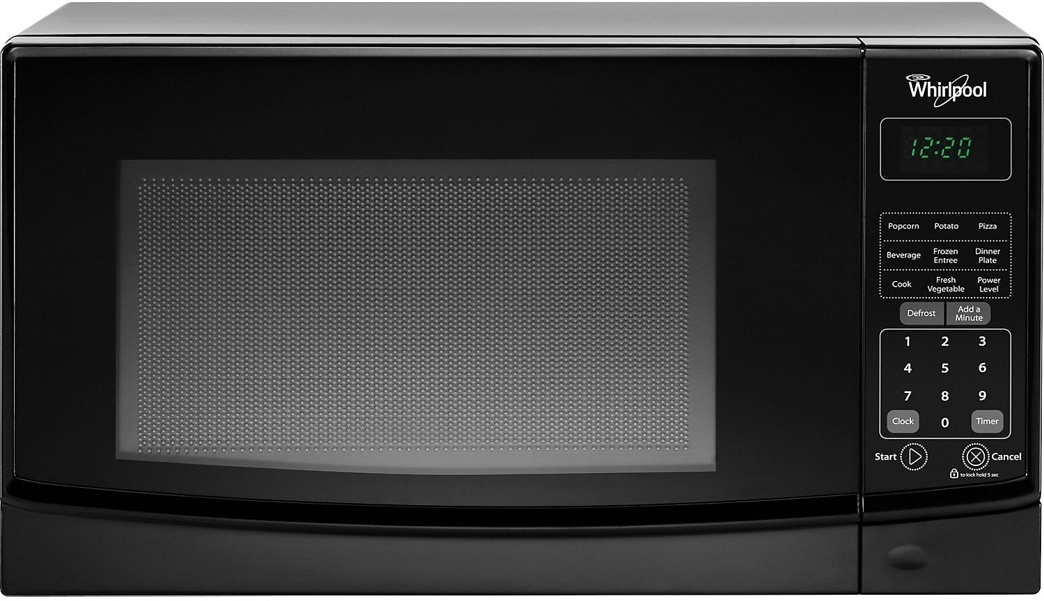 Cooking Products - Whirlpool 0.7 Cu. Ft. Countertop Microwave with Electronic Touch Controls - Black