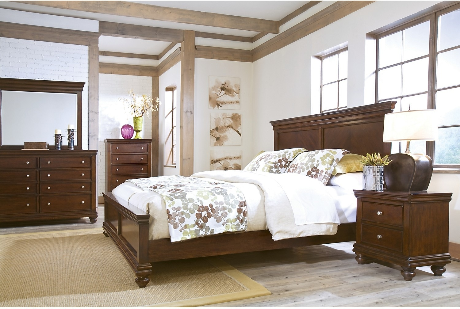 Elegant wood modern master bedroom set feat wood grain cincinnati ohio - North