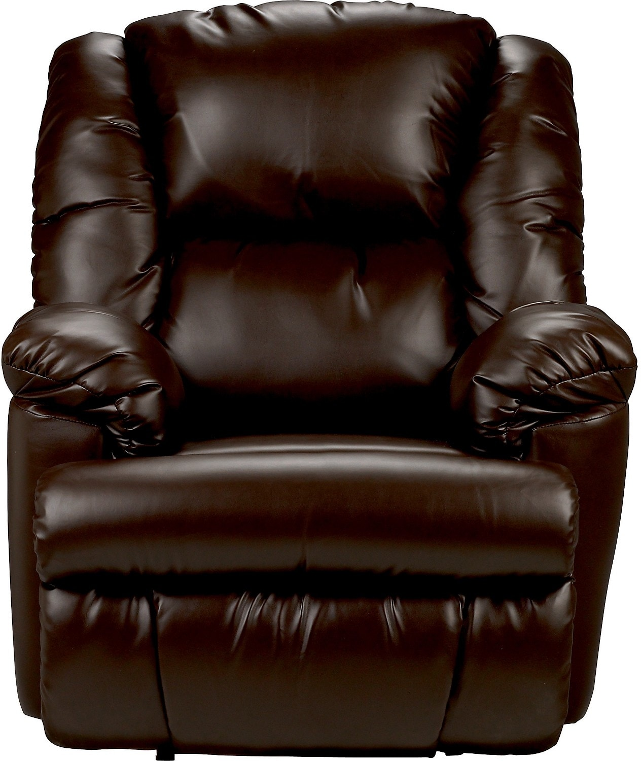 bmaxx bonded leather power reclining chair u2013 brown - Brown Leather Recliner
