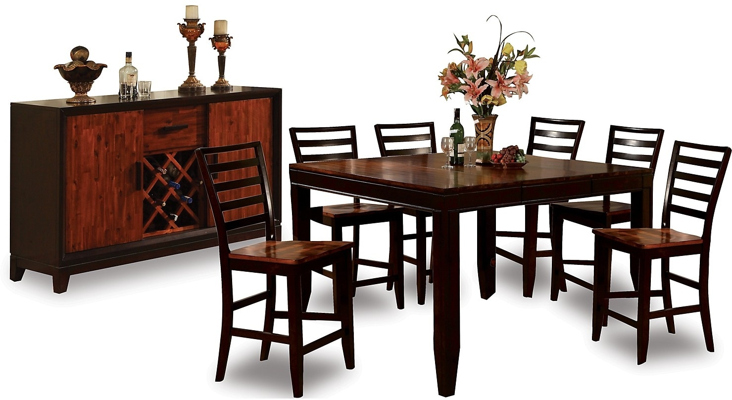 Dining Room Furniture - Zara 8-Piece Counter-Height Dining Package