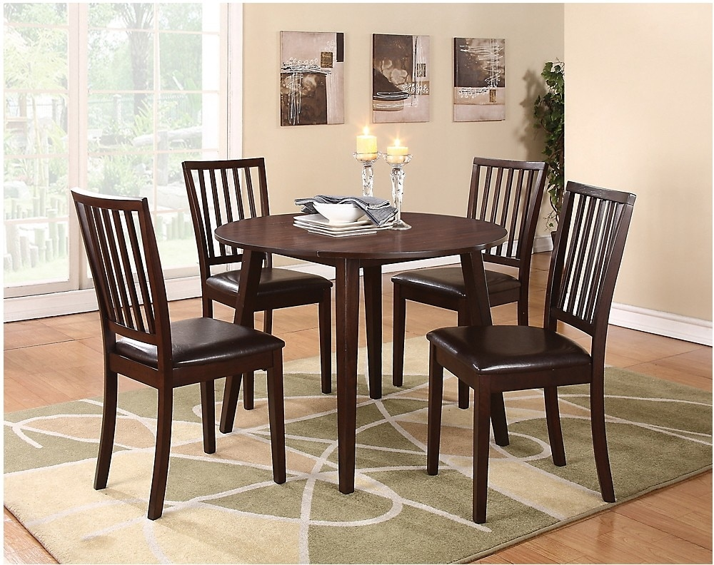 Dining Room Furniture - Dakota 5-Piece Round Table Dining Package
