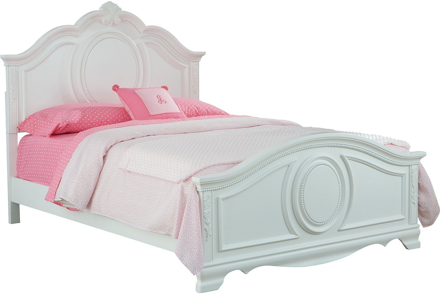 Kids Furniture - Jessica White Full Bed