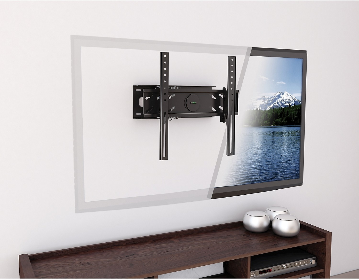 "CorLiving Adjustable 26"" - 50"" Full Motion TV Wall Mount – Black"