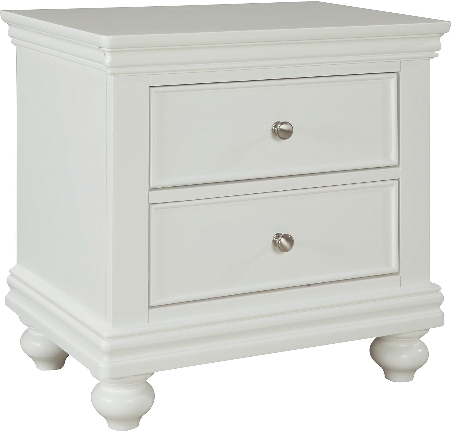 nightstands  the brick - bridgeport nightstand – white