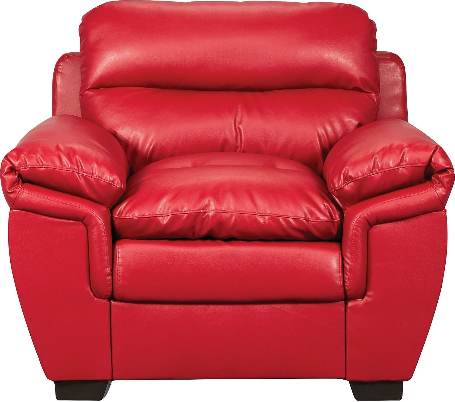 Living Room Furniture - E6 Red Bonded Leather Chair