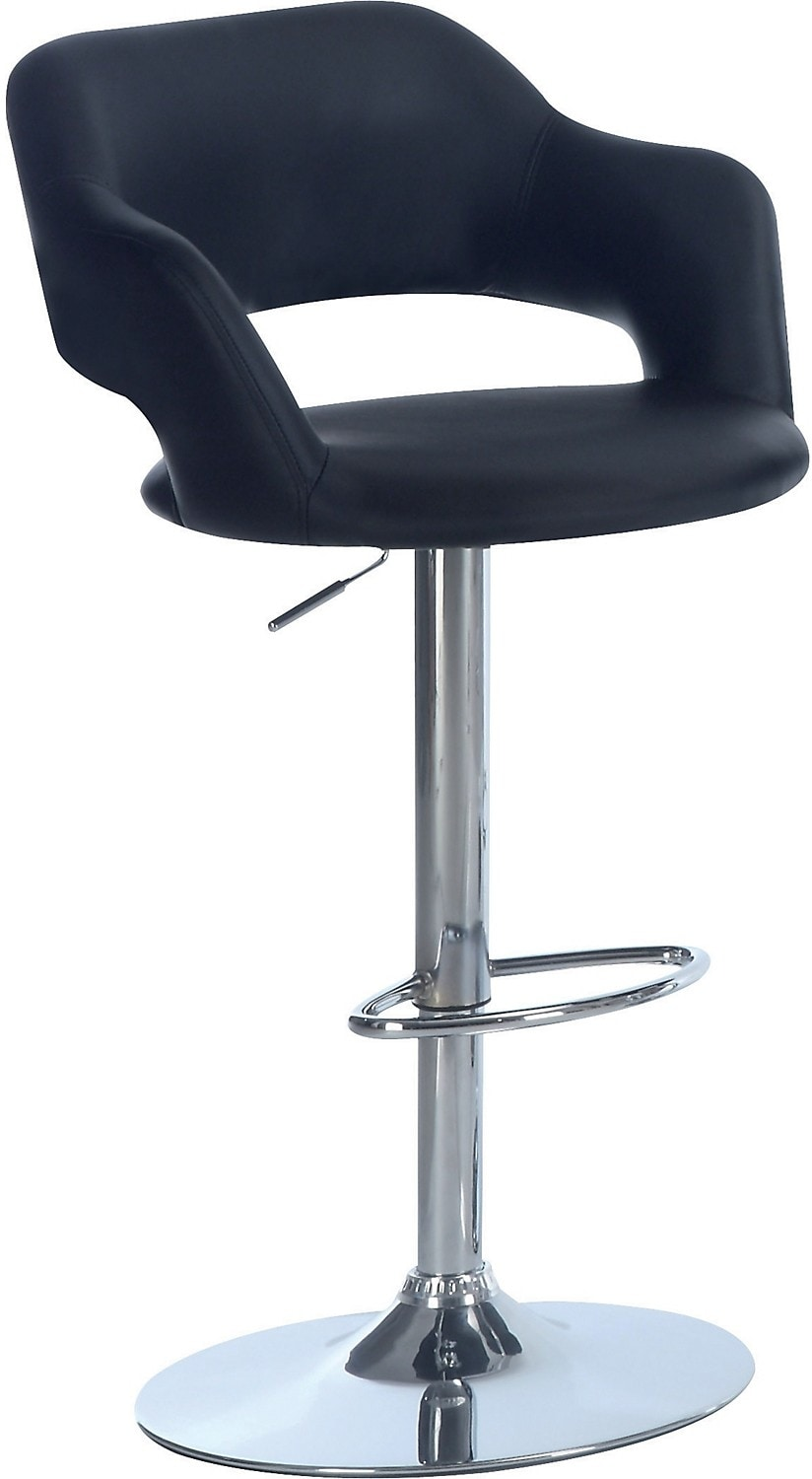 Accent and Occasional Furniture - Black Hydraulic Bar Stool