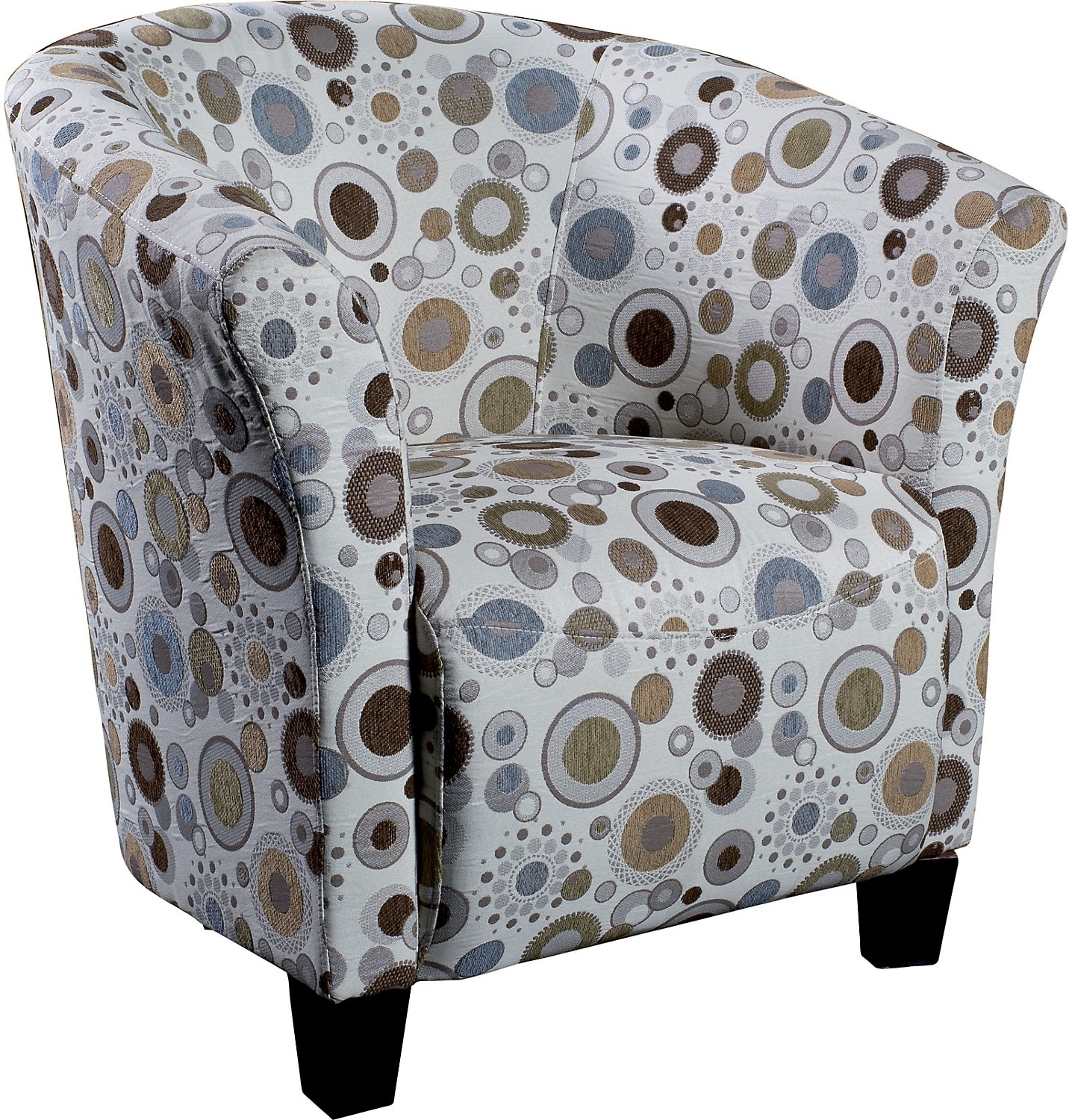 Living Room Furniture - Sundial Accent Fabric Tub Chair