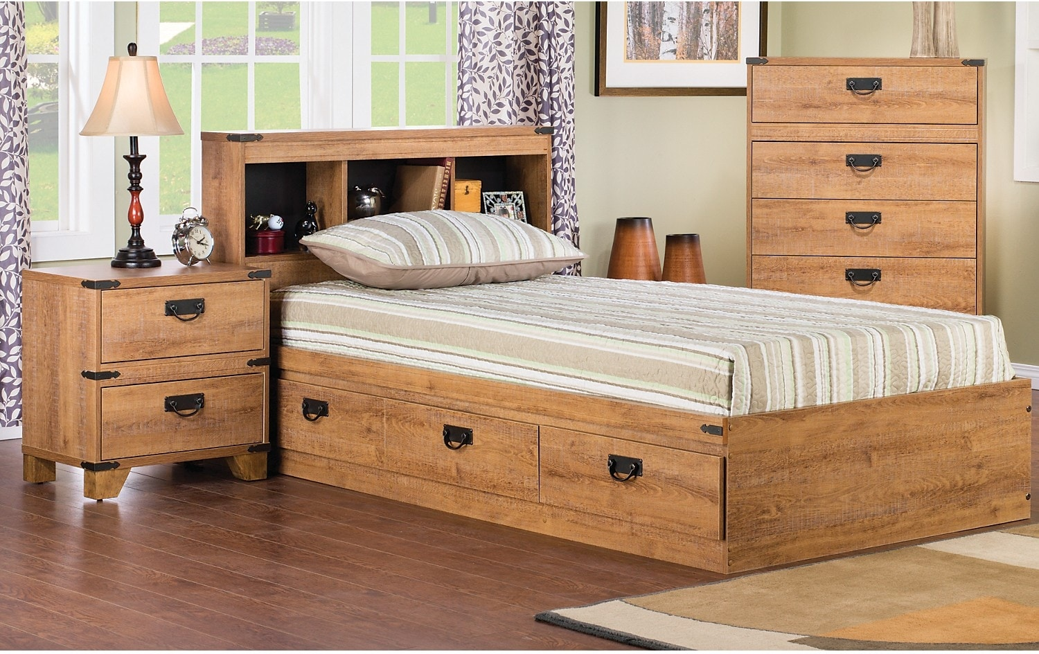 driftwood 2 piece mates bedroom package united furniture warehouse