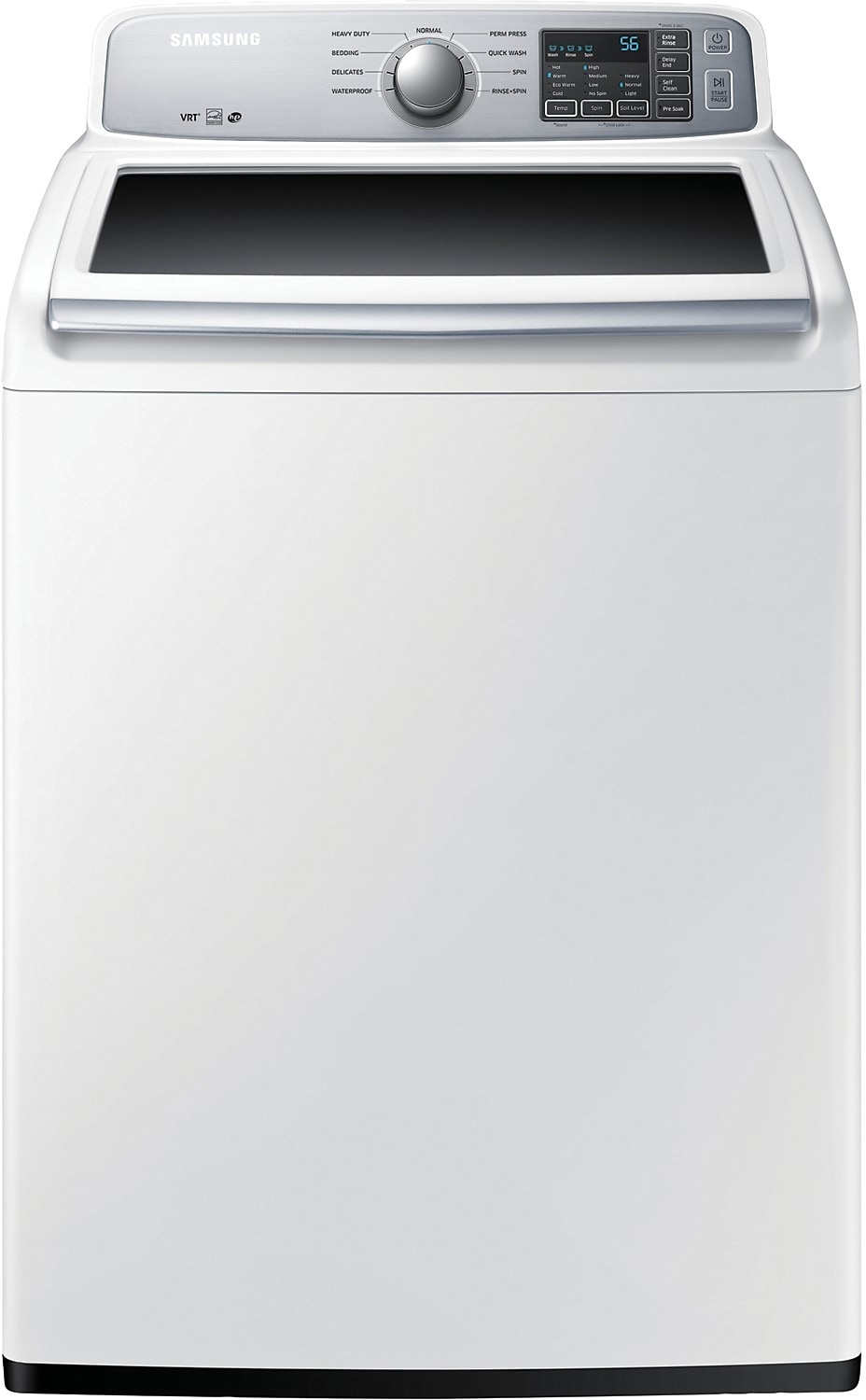 Washers and Dryers - Samsung 5.2 Cu. Ft.  Large Capacity Top-Load Washer - White