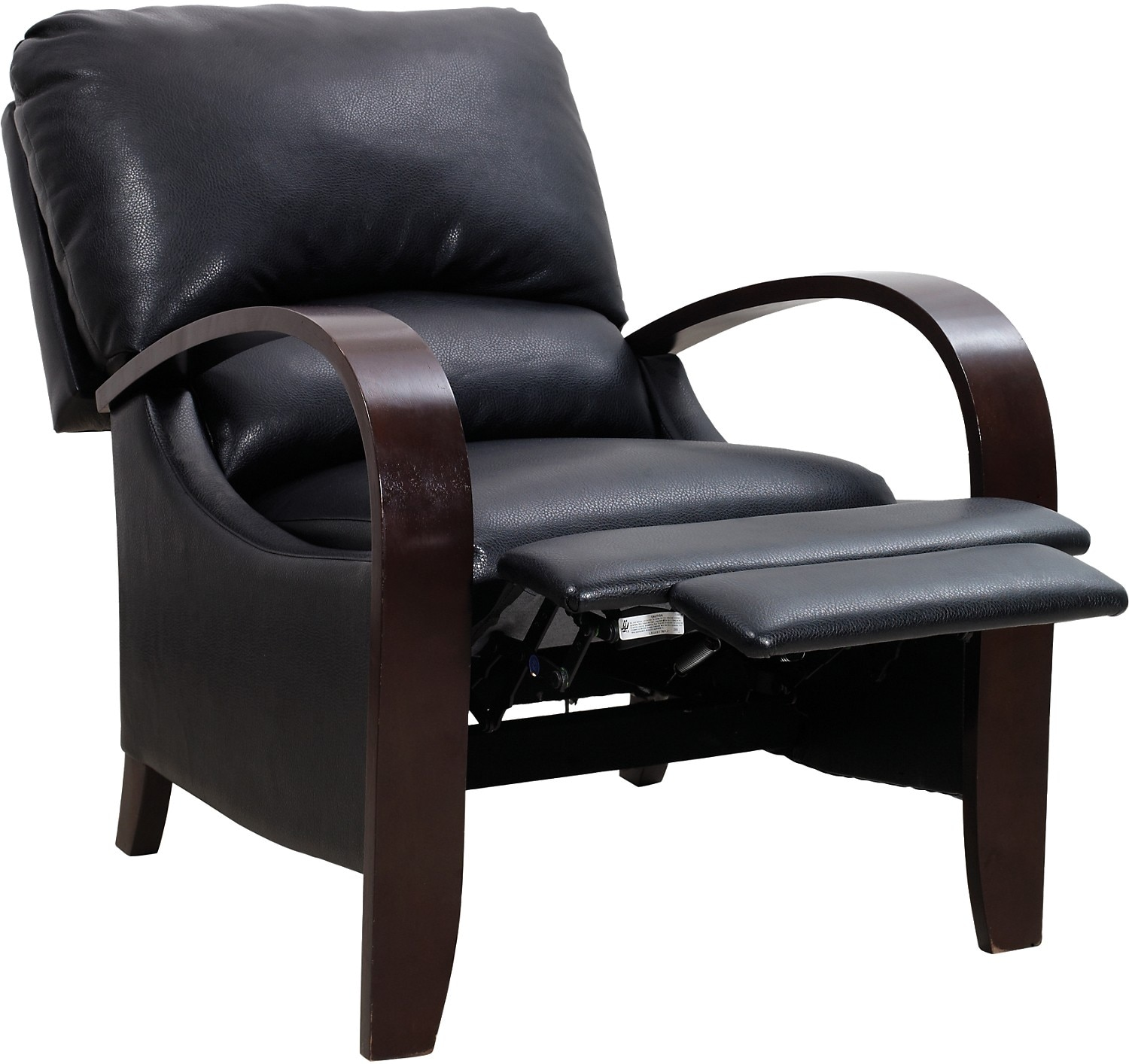 Living Room With Black Sectional And Accent Chair: Aaron Black Reclining Accent Chair