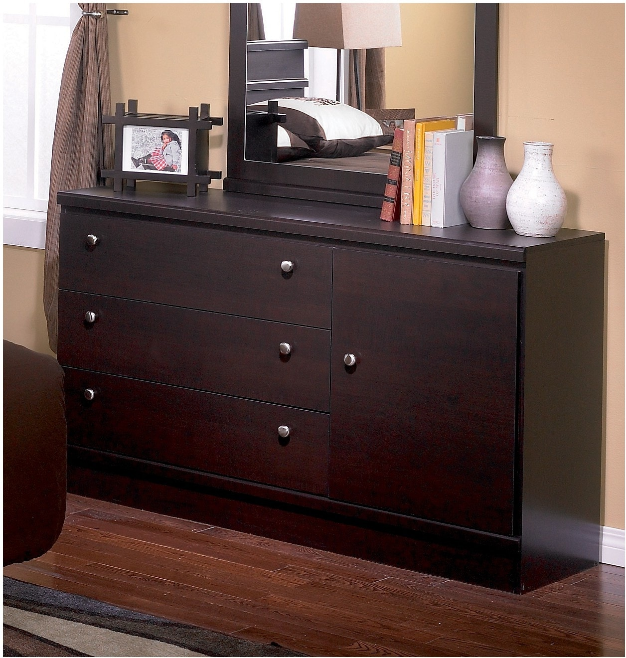 Bedroom Furniture - Dark Saddle Birch Dresser