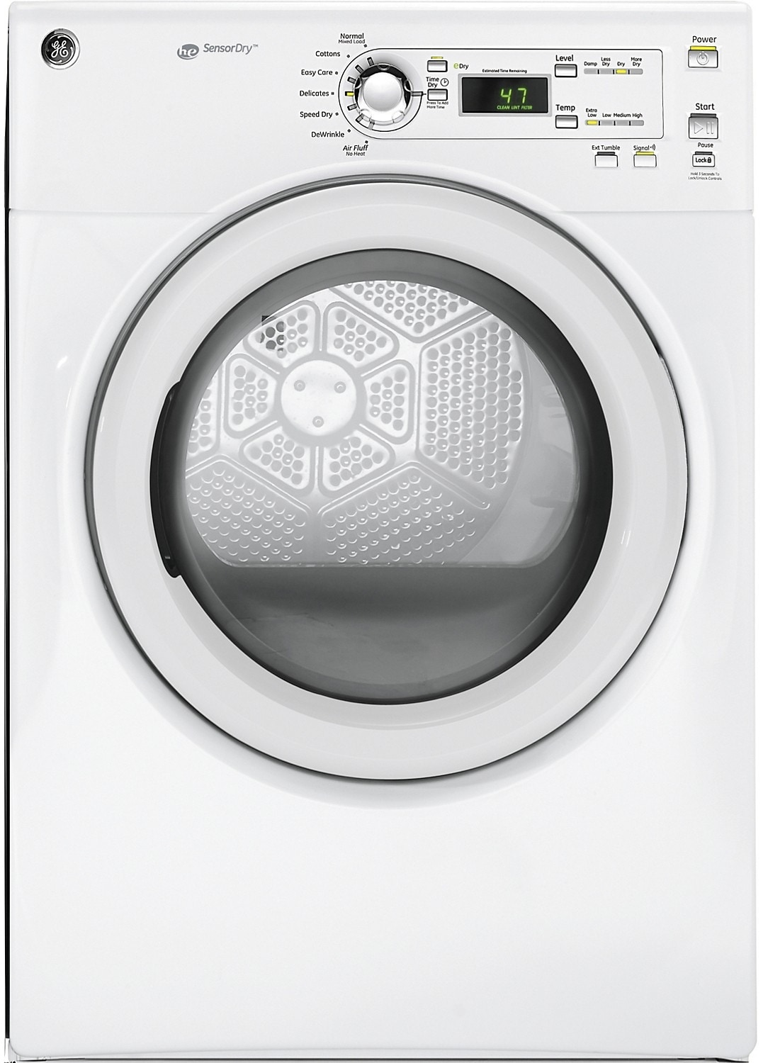 Washers and Dryers - GE 7.0 Cu. Ft. Electric Dryer - White