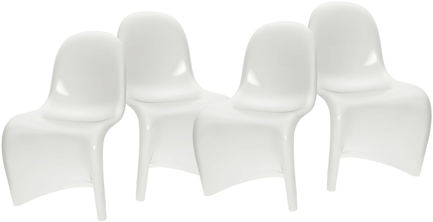 Continuous Form Patio Dining Chairs – Set of 4