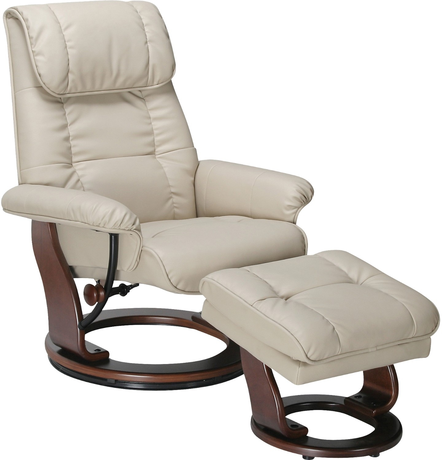 Living Room Furniture - Dixon Taupe Reclining Chair & Ottoman