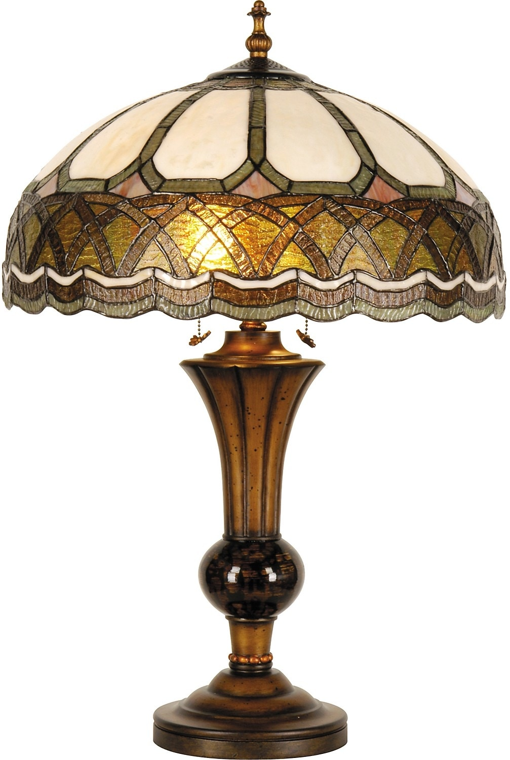Home Accessories - Cameron Tiffany-Style Table Lamp with Stained Glass Shade