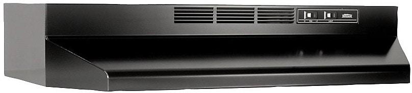 "Cooking Products - Broan 30"" Basic Performance Series 180 CFM Range Hood - Black"