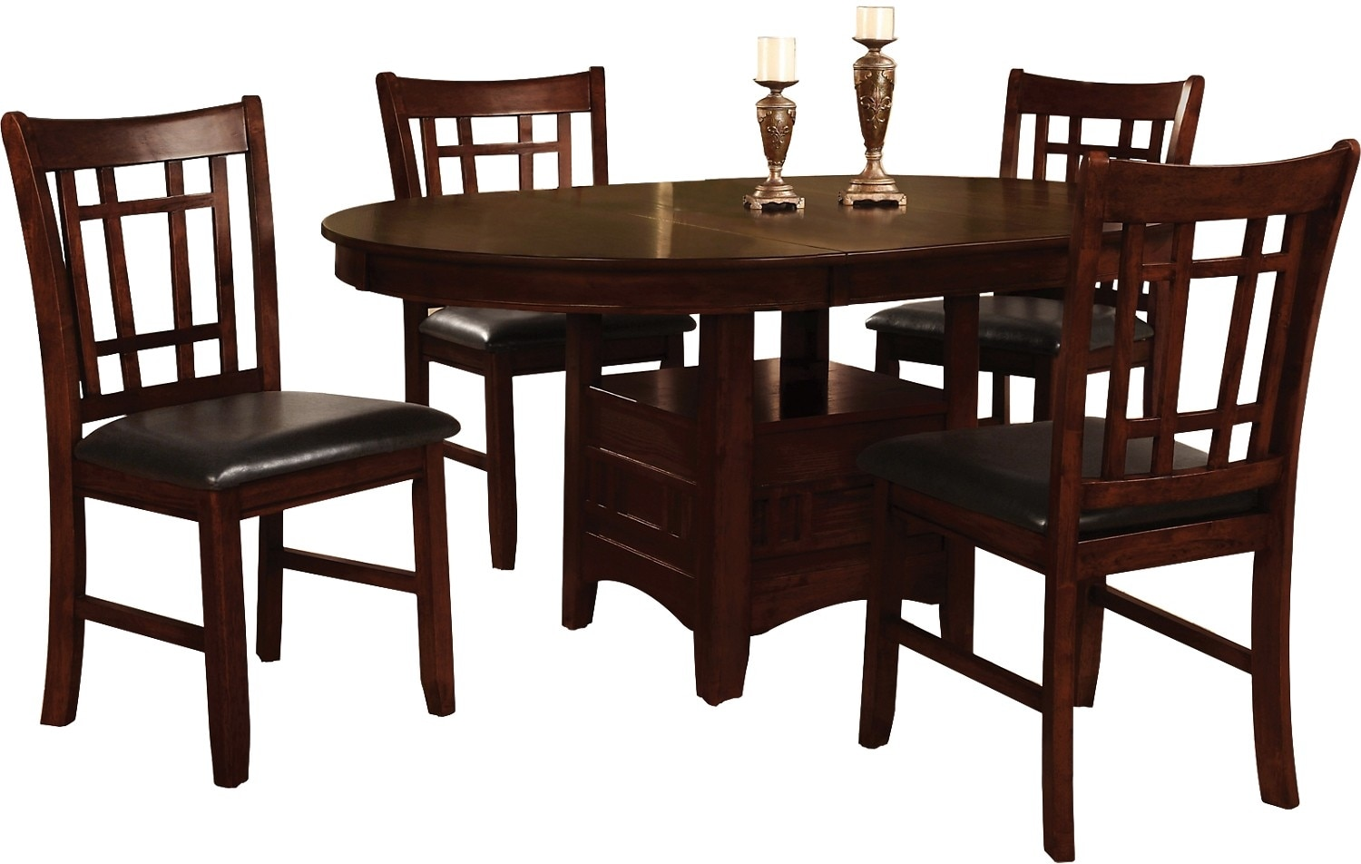 Dining Room Furniture - Dalton 5 Piece Chocolate Dining Package