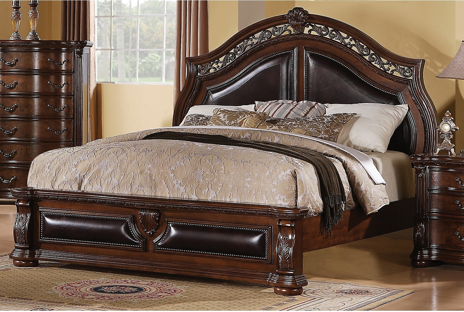 Morocco queen bed the brick for Bedroom sets with mattress