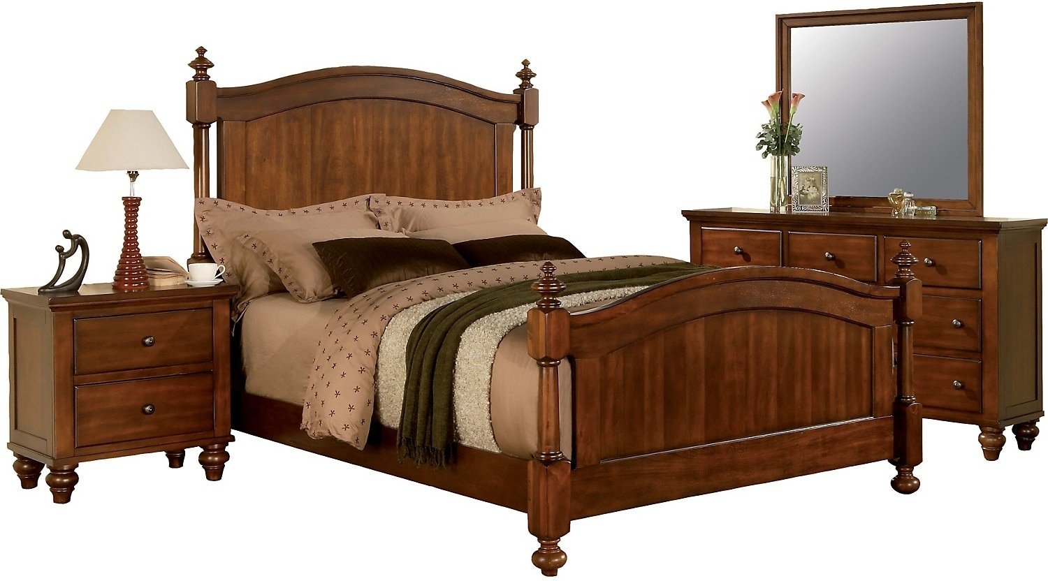 Bedroom Furniture - Kennedy 5-Piece King Bedroom Package