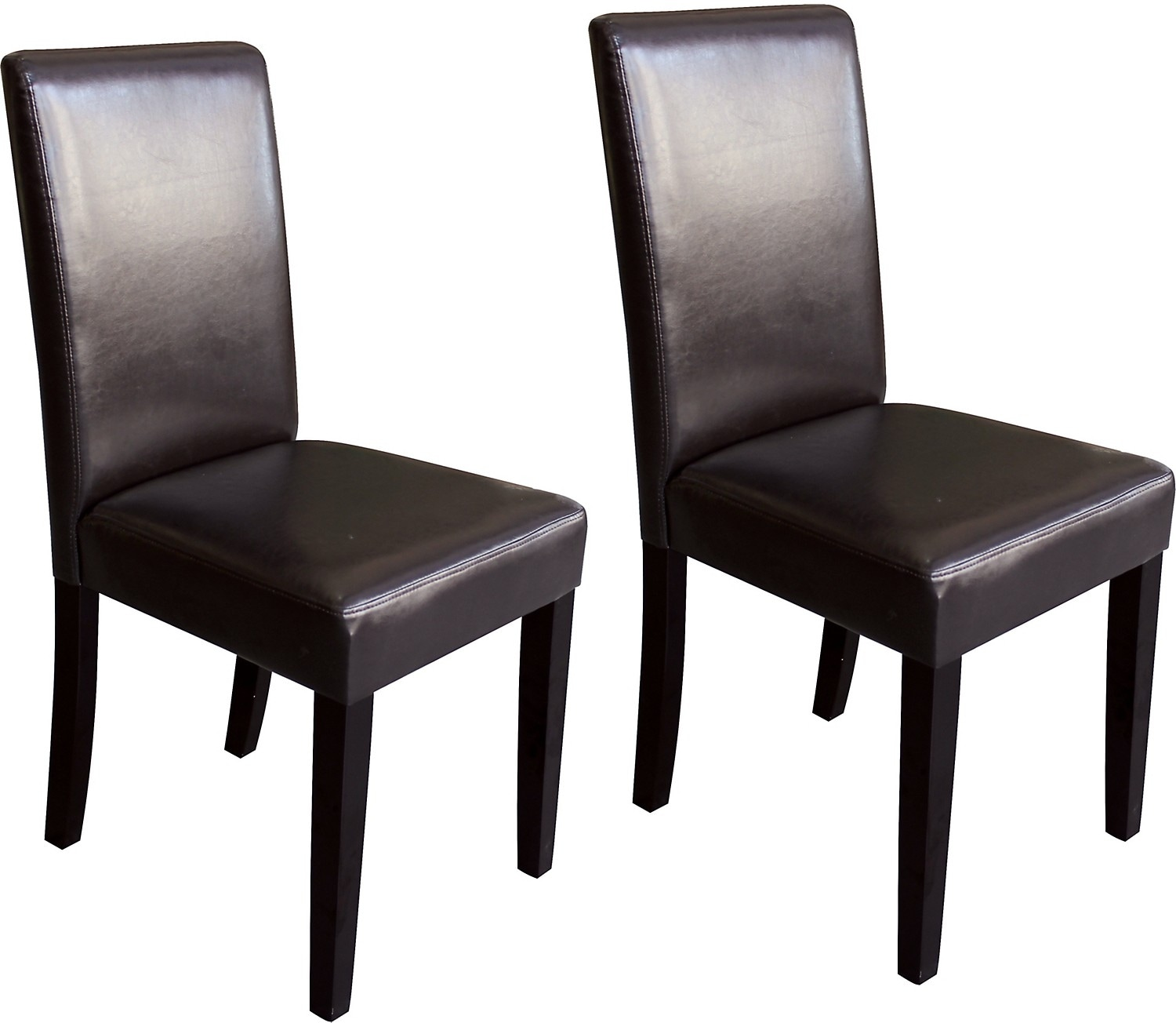 Brown 2 piece accent dining chair set the brick for Dining room end chairs