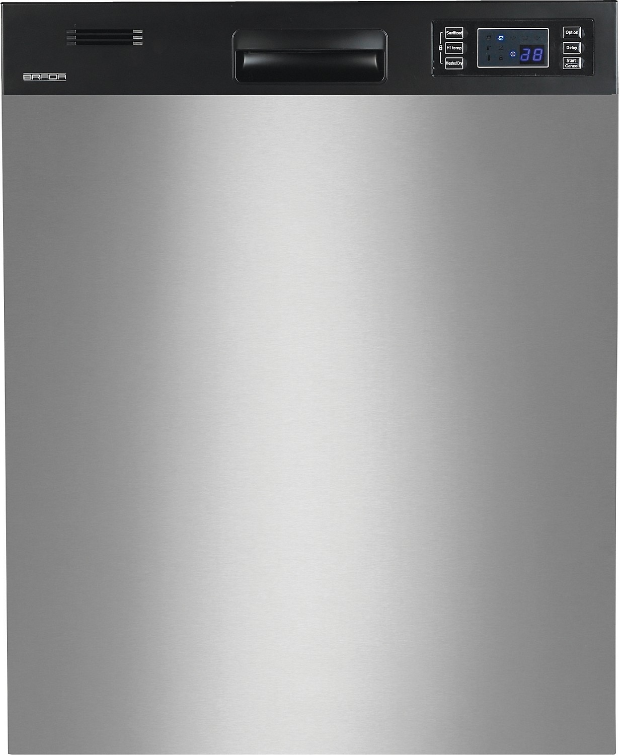 clean inside stainless steel dishwasher