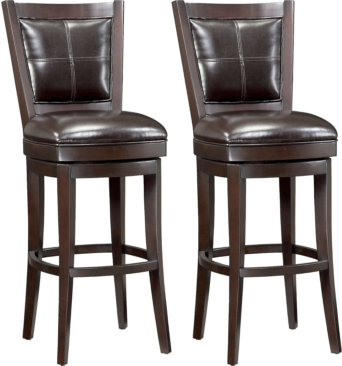 "Dining Room Furniture - Chase 30"" Bar Stools, Set of 2"