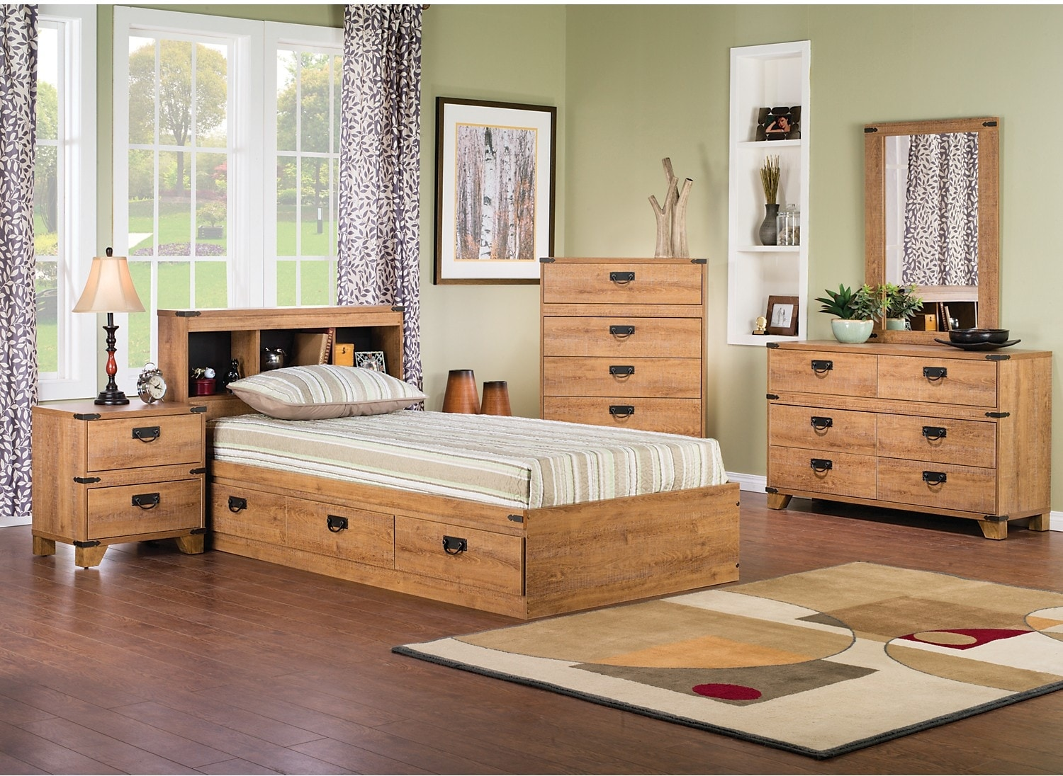 Kids Furniture - Driftwood 7-Piece Mates Bedroom Package