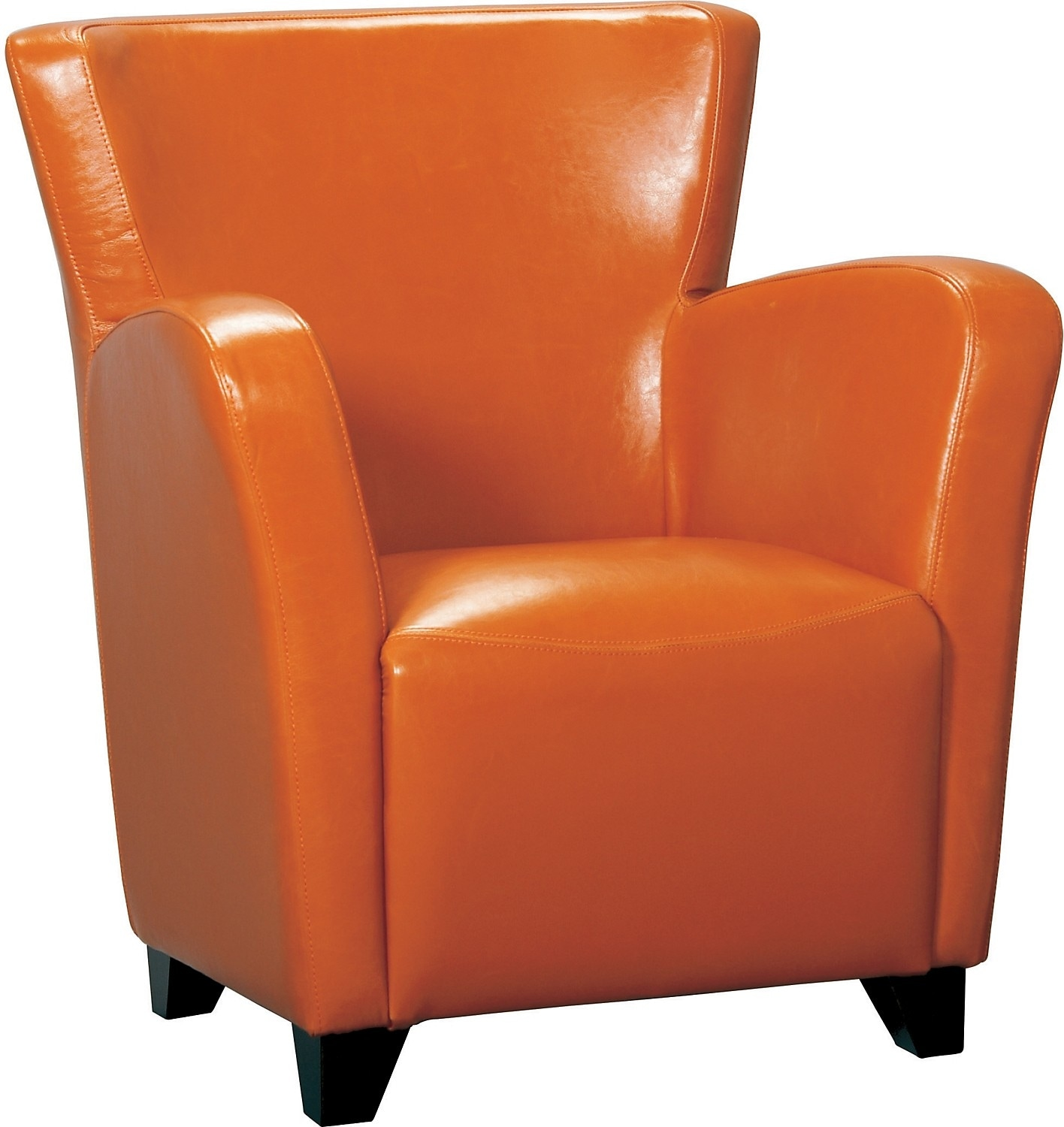 Living Room Furniture - Bonded Leather Chair - Spice