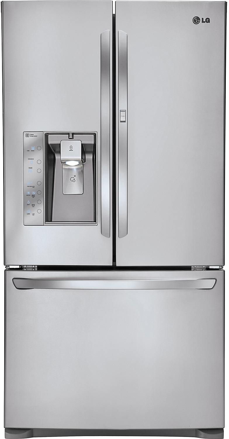 Refrigerators and Freezers - LG 23.8 Cu. Ft. 4-Door French Door Counter-Depth Refrigerator – Stainless Steel