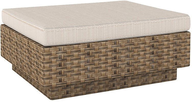 Parkview Patio Ottoman - Brown