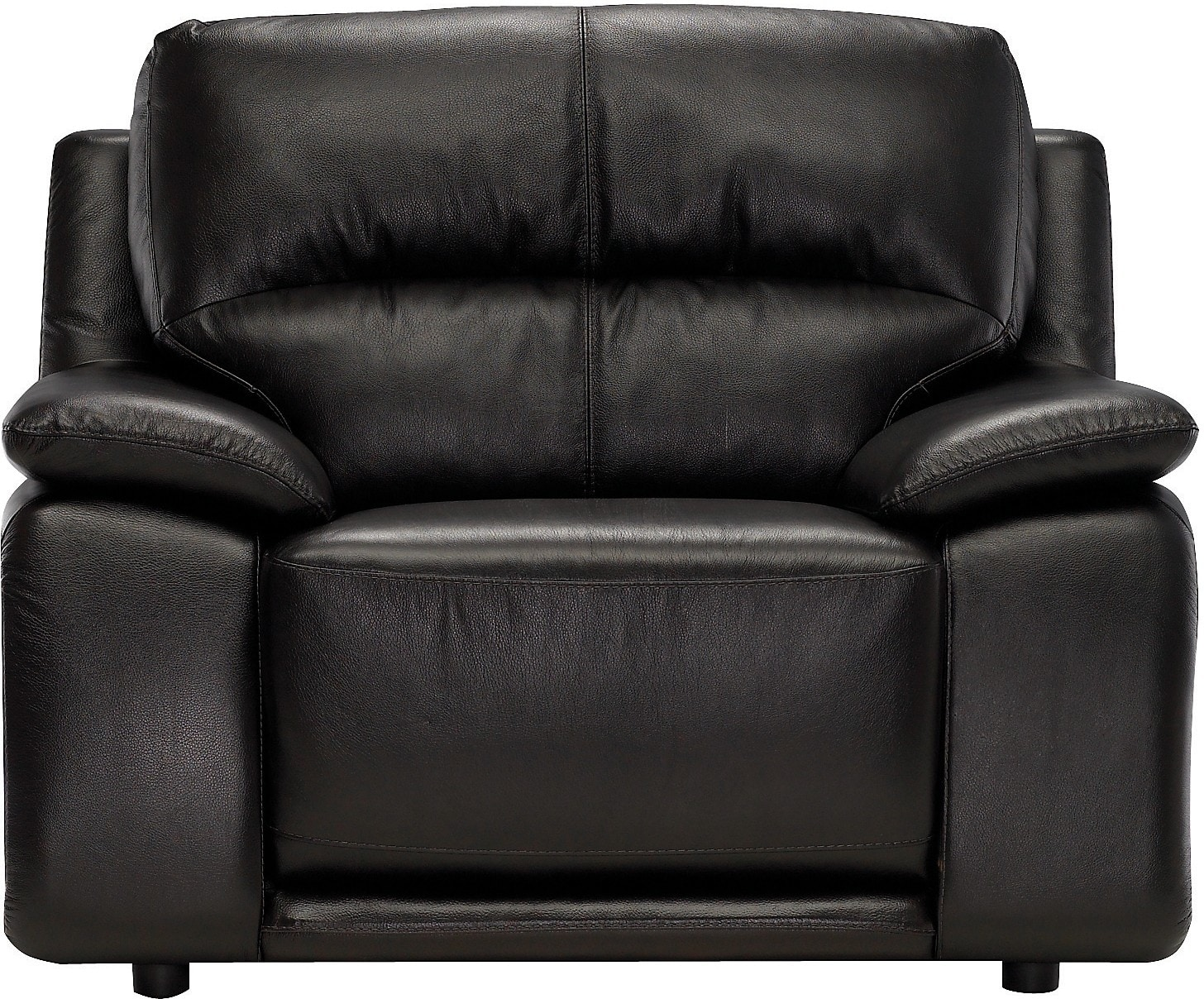 Living Room Furniture - Chateau d'Ax 100% Genuine Leather Chair- Dark Chocolate