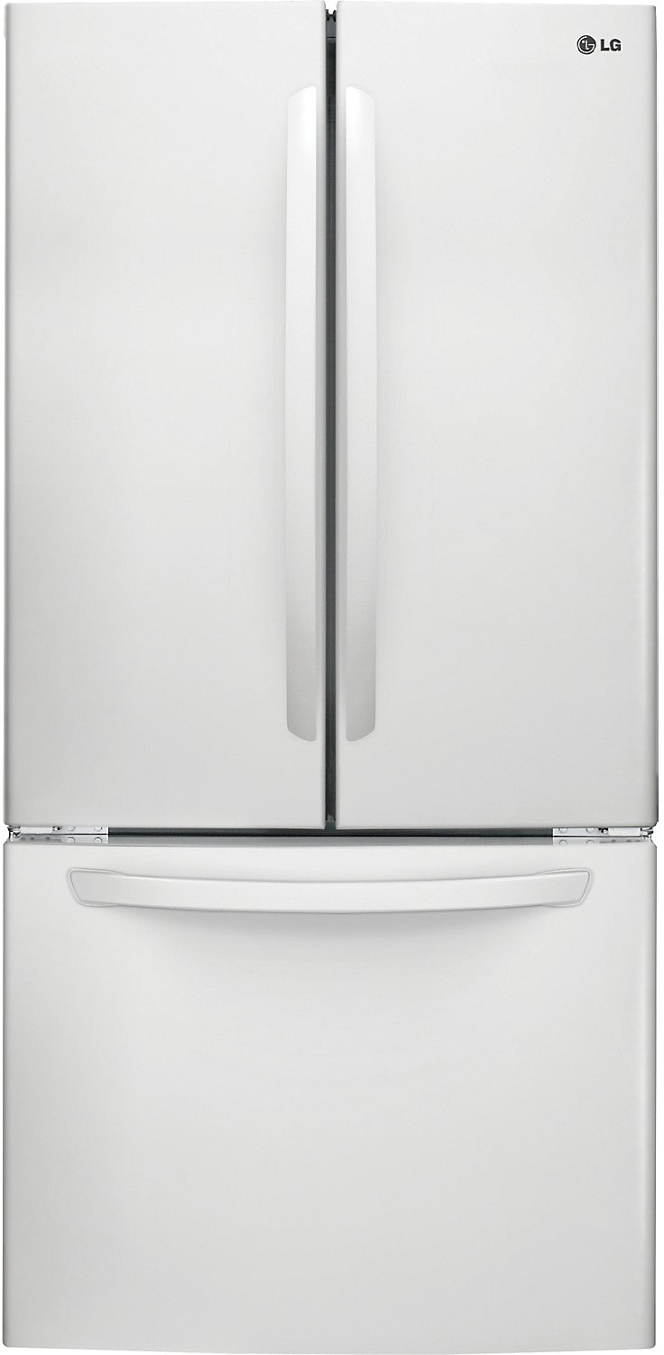LG 24 Cu. Ft. French Door Refrigerator with Smart Cooling System – White