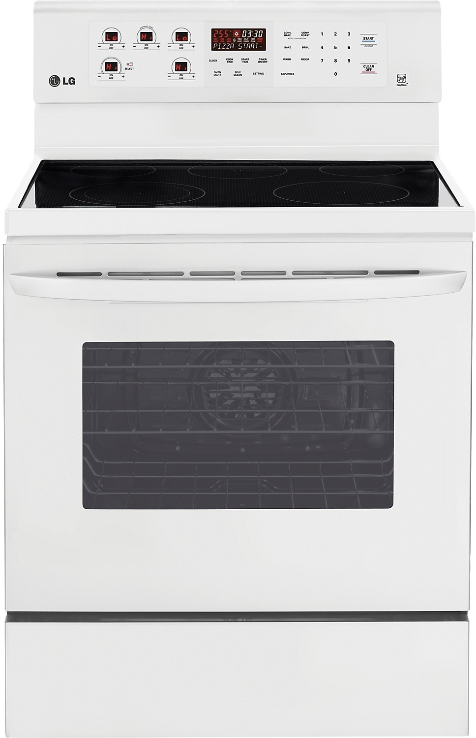 Cooking Products - LG 6.3 Cu. Ft. Freestanding Electric Convection Range - White