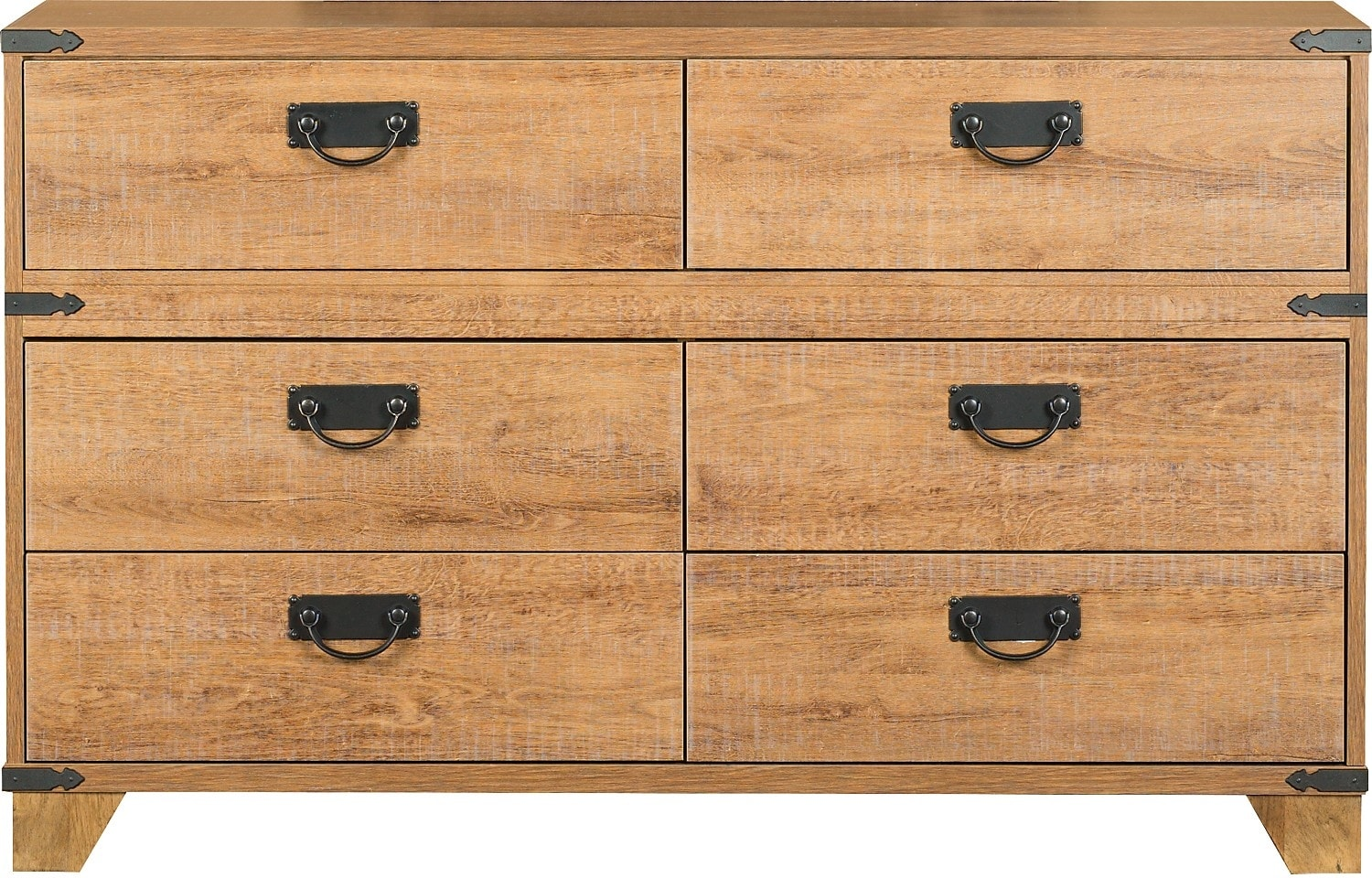 Kids Furniture - Driftwood 6-Drawer Dresser