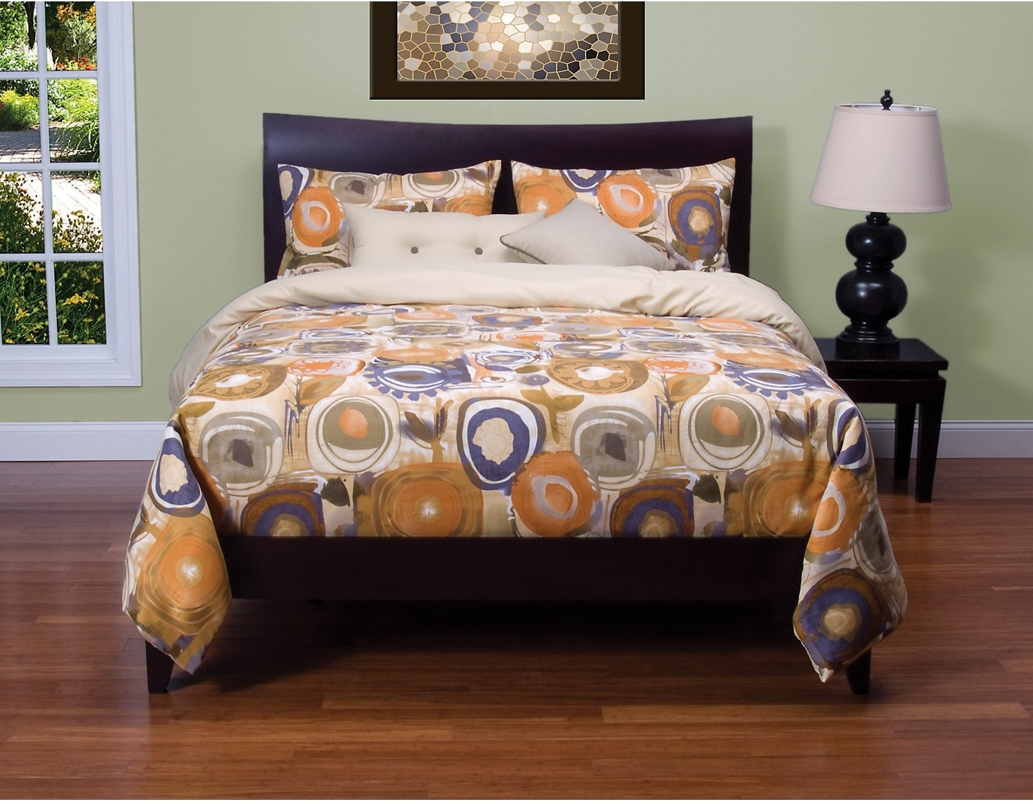Accent and Occasional Furniture - Enchanted Maze Reversible 4 Piece King Duvet Cover Set