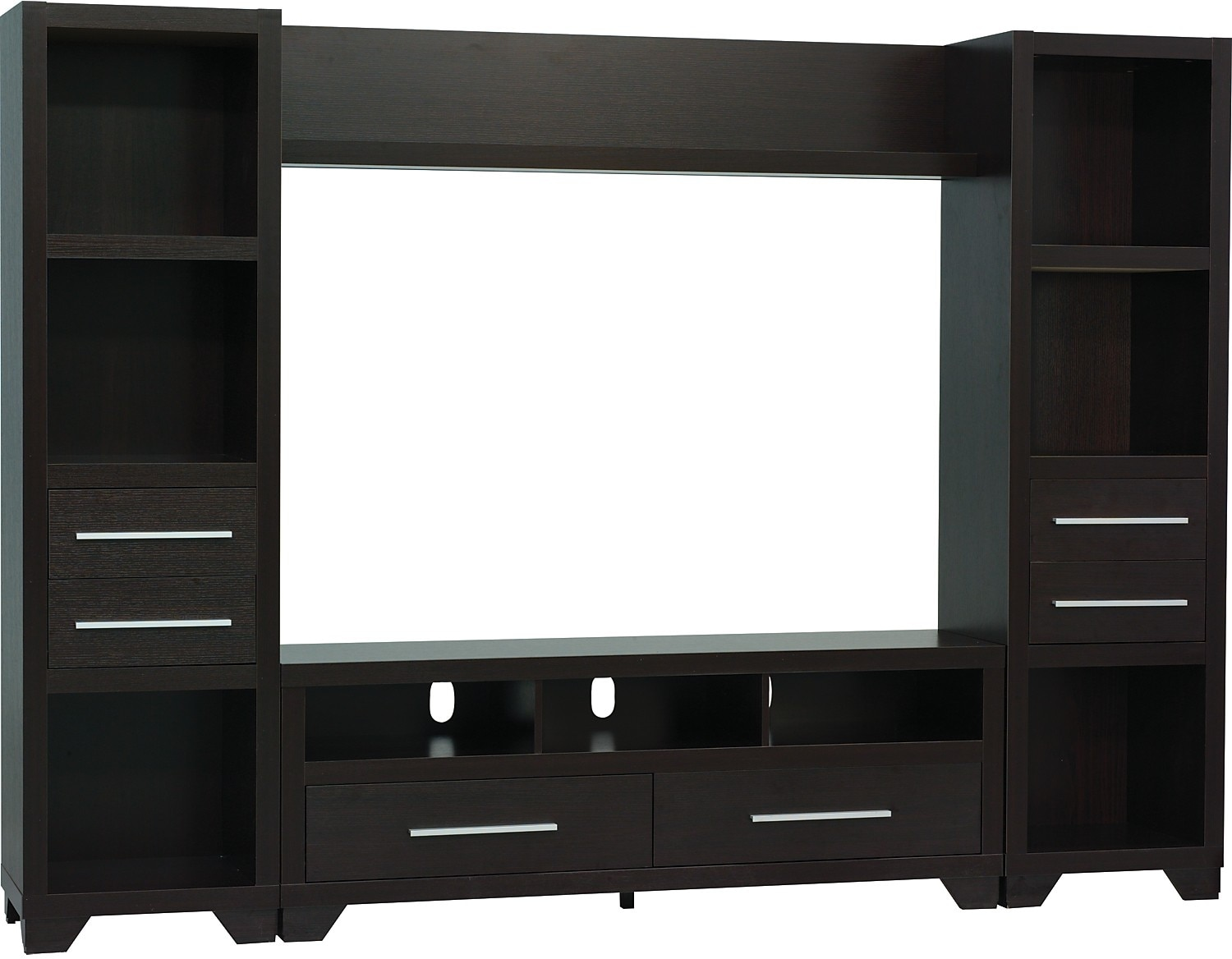 "Entertainment Furniture - Glendale 4-Piece Entertainment Centre with 60"" TV Opening – Espresso"